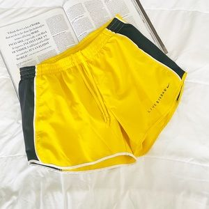 Nike Yellow Livestrong Running Shorts Size Medium